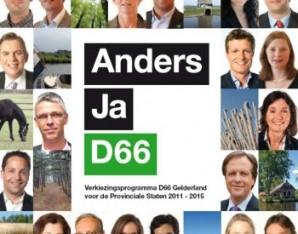 Verkiezingsprogramma D66 Gelderland 2011-2015 brochure